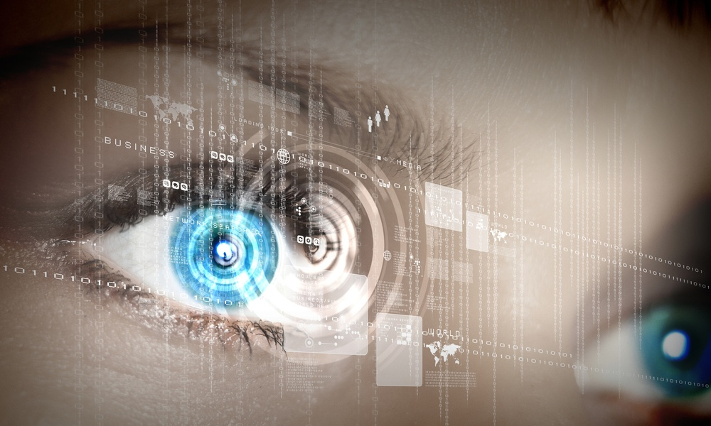 Eye viewing digital information represented by circles and signs.jpeg